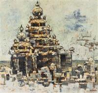 mamalipuram temple [sic] by abdulrahim apabhai almelkar